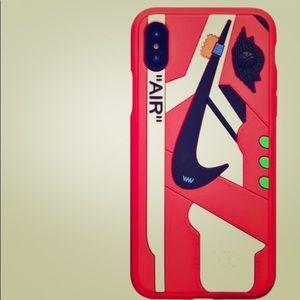 Nike Jordan Off White Sneaker Case IPhone X/XS RED